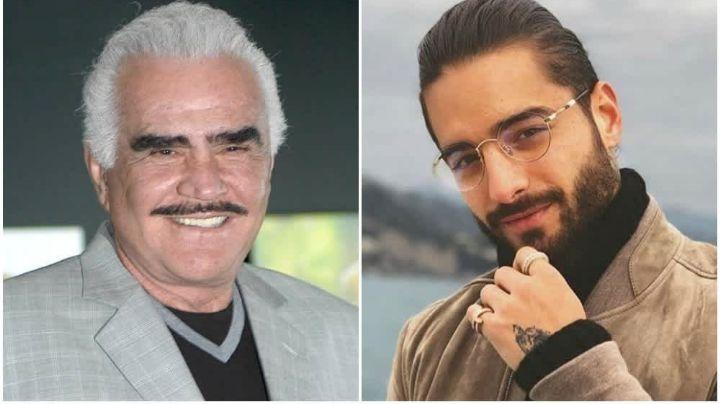 Maluma planearía dueto con Vicente Fernández; el cantante mexicano se encuentra hospitalizado