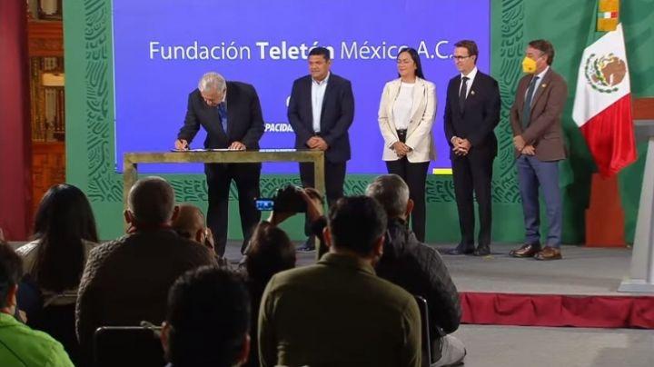 AMLO: Gobierno Federal firma acuerdo con el Teletón para atender a infantes con discapacidad
