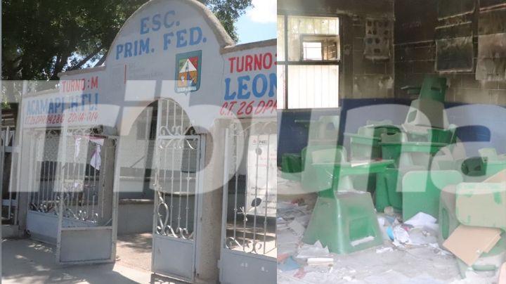 Cajeme: La Primaria Acamapichtli no podrá regresar a clases presenciales; fue víctima del vandalismo