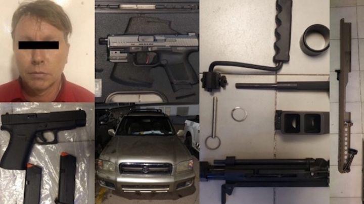 Nogales: Lo sorprenden con armas de fuego al intentar cruzar la frontera Sonora-Arizona