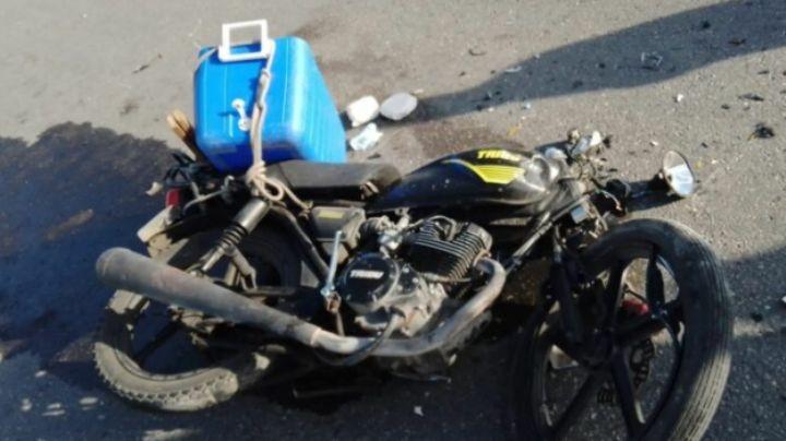 Por no respetar un alto, conductor de camioneta le arrebata la vida a un motociclista