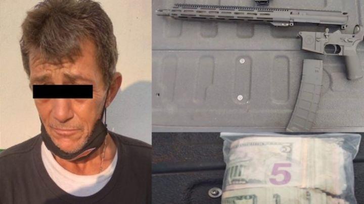 Capturan a sujeto armado en frontera Sonora-Arizona; transportaba un arma de alto poder