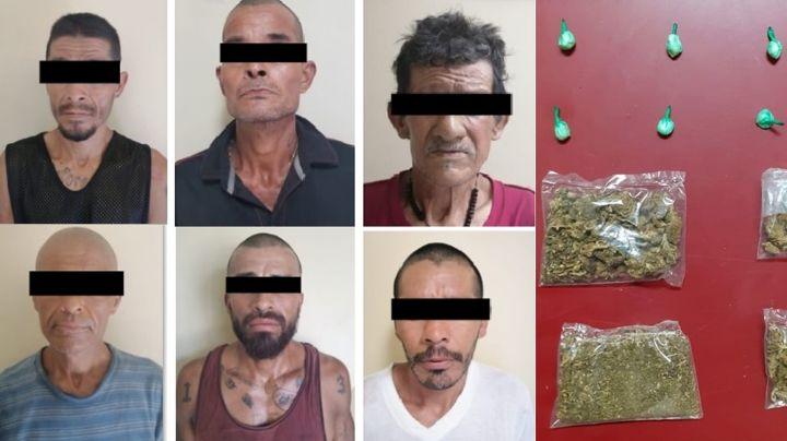 Sacan de la calle a 38 delincuentes en San Luis Río Colorado; aseguran 741 dosis de droga