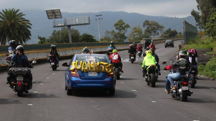 VIDEO: Así recuerdan motociclistas a las víctimas del accidente en la México-Cuernavaca