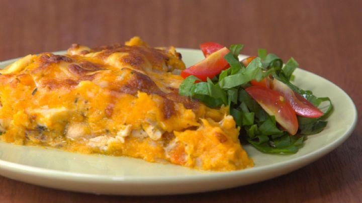 ¡Perfecto para las tardes de otoño! Disfruta de un delicioso pastel de calabaza con pollo