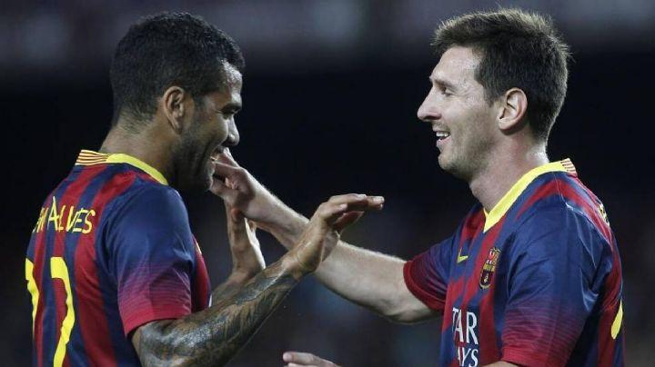 """""""Después de mi chica, mi mejor par"""": Dani Alves responde a la salida de Messi del Barcelona"""