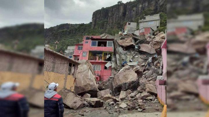 Edomex: Derrumbe del Cerro del Chiquihuite sepulta casas en Tlalnepantla; hay 4 desaparecidos