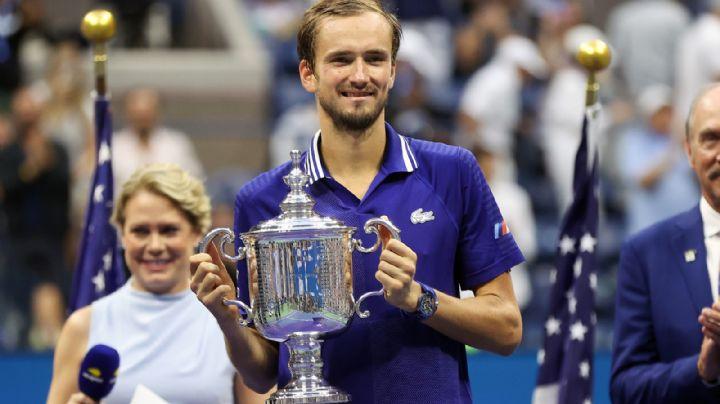 Daniil Medvédev para en seco a Novak Djokovic; lo derrota en la final del US Open