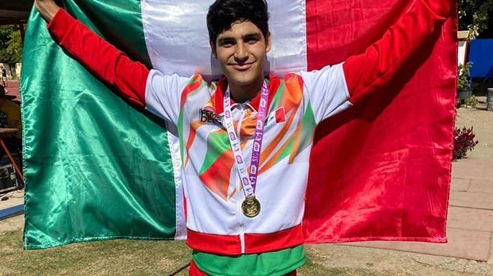 Cajemense Rubén Muñoz se baña de oro en el Campeonato Mundial Escolar Deportivo U15