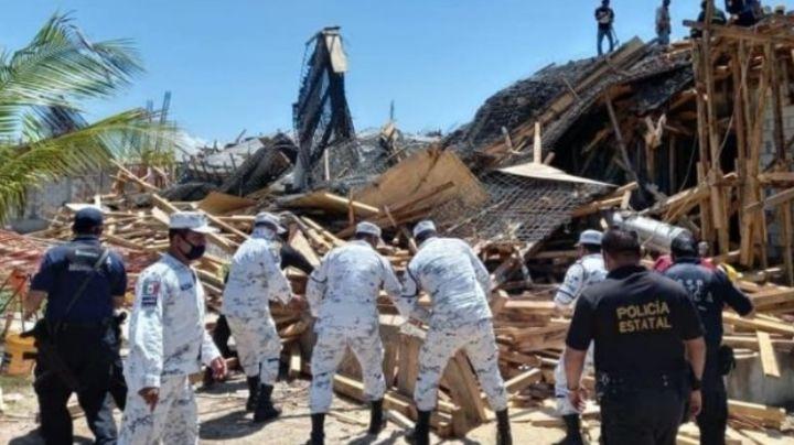 Mueren dos obreros y 10 más resultan lesionados en derrumbe en Ciudad del Carmen