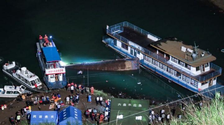 FOTOS: Este es el barco que naufragó en China; reportan víctimas mortales y desaparecidos