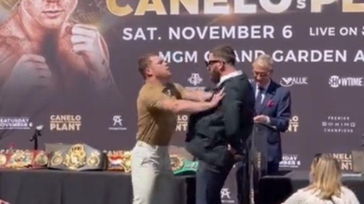 ¿Por qué se calentó 'Canelo' con Caleb Plant? Esto dijo el boxeador mexicano