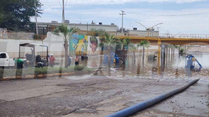 Fuertes lluvias deja importantes afectaciones en el municipio de Cajeme