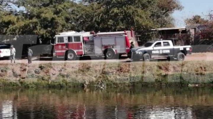 Rescatan a sujeto del Canal Bajo en Cajeme; lo hirieron de bala y lo arrojaron al agua