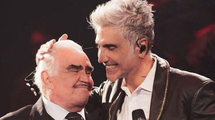 ¡Destrozado! 'El Potrillo' recuerda a Vicente Fernández en concierto tras estar al filo de la muerte