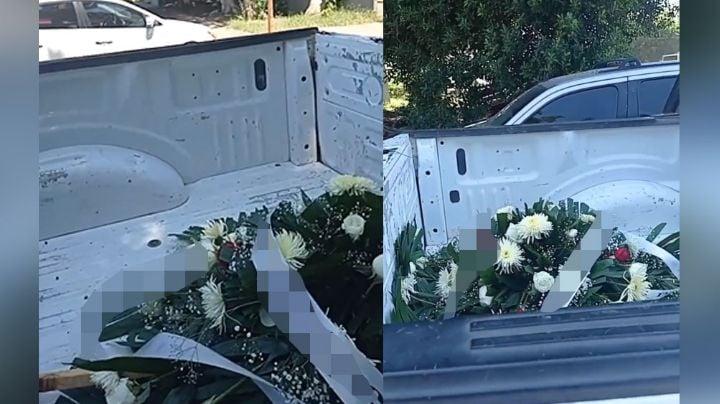 Colocan corona al exterior de las instalaciones del Issste en Cajeme; iba en contra de 3 funcionarios