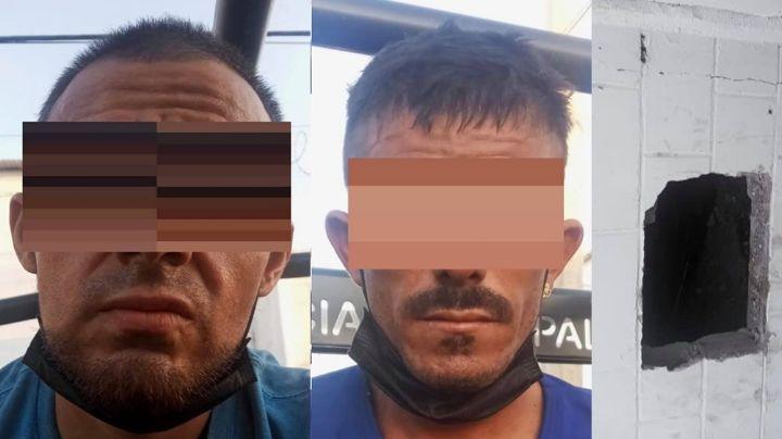 Hermosillo: Abrieron boquete en pared para robar pero fueron descubiertos y detenidos