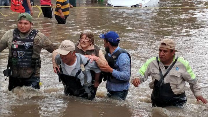 Confirma AMLO 17 fallecidos tras inundaciones en Hidalgo; 10 morirían en hospital sin oxígeno