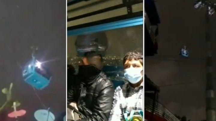 """(VIDEO) """"¡Ay, virgencita linda!"""": Así vivieron pasajeros del cablebús el terremoto en la CDMX"""