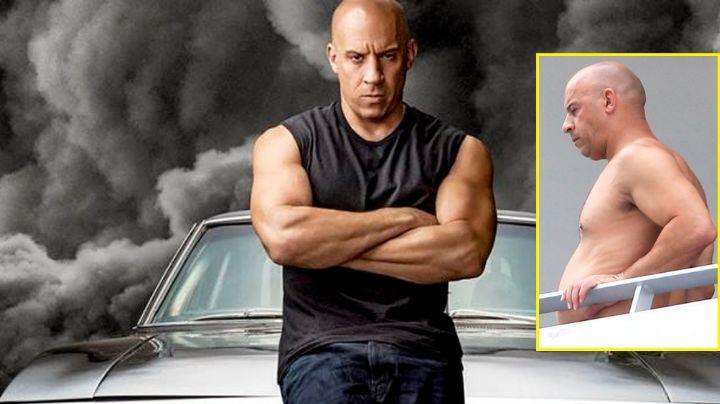 ¡Vin Diesel está irreconocible! El actor causa revuelo al mostrar su figura 'descuidada'